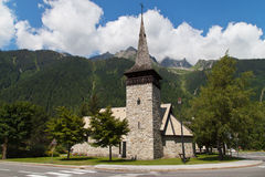 Church of Chamonix Royalty Free Stock Photos