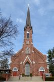 Church in Champaign. This is an early Spring picture of St. Mary Catholic Church in Champaign, Illinois. The cornerstone was laid on June 10, 1888. This picture stock photography
