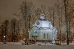 Church-Chapel of All Saints, In the Land of the Russian Glowed, in Victory Park Stock Images