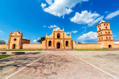 Church, Chapel, Bell Tower. Church, chapel, and bell tower of the UNESCO World Heritage Jesuit Mission in San Jose de Chiquitos, Bolivia Royalty Free Stock Photo