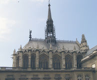 Church - chapel - Paris. Ste Chapelle, Paris - build in 13th century by Saint Louis (Louis IX royalty free stock photos