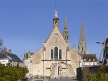 Church at Chartres in France Stock Photos