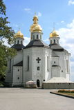 Church in Chernigov in Ukraine. Against the sky Stock Images
