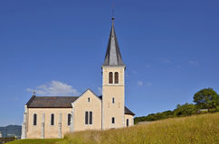Church of Chevenoz in France Royalty Free Stock Images