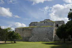 The Church at Chichen Itza. Mayan building located in one of the new seven wonders, Chichen Itza, Mexico Royalty Free Stock Image