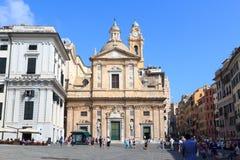 Church Chiesa del Gesu a Genova Fotografia Stock Libera da Diritti