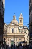 Church Chiesa del Gesu in Genua Royalty-vrije Stock Foto's