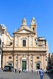 Church Chiesa del Gesu in Genua Stock Afbeeldingen