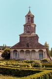 Church of Chiloe, Nercon. Royalty Free Stock Image