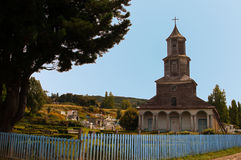 Church of Chiloe, Nercon. Stock Photography