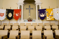 Church choir seats. Picture of a choir seats inside a church Royalty Free Stock Photo
