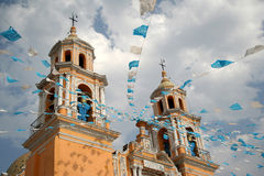 Church in Cholula, Mexico Royalty Free Stock Images