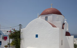Church in Chora, Mykonos Stock Photography