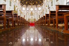 Church of Christ. Inside beautiful church of Christ in low angle Royalty Free Stock Photography