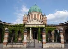 Church of Christ the King, Mirogoj cemetery in Zagreb. Croatia Royalty Free Stock Image
