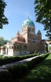 Church of Christ the King, Mirogoj graveyard in Zagreb Stock Images