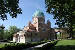Church of Christ the King, Mirogoj graveyard in Zagreb Stock Photos