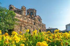 Church of Christ Pantocrator in Nessebar ancient city. Nesebar, Nesebr is a UNESCO World Heritage Site. An ancient Byzantine. Architecture church in Nessebar stock photos
