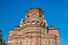 Church of Christ Pantocrator in Nessebar ancient city. Nesebar, Nesebr is a UNESCO World Heritage Site. An ancient Byzantine. Architecture church in Nessebar royalty free stock photos