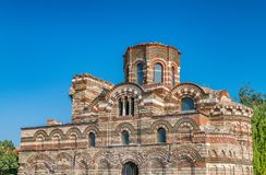 Church of Christ Pantocrator in Nessebar ancient city. Nesebar, Nesebr is a UNESCO World Heritage Site. An ancient Byzantine. Architecture church in Nessebar royalty free stock image