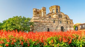 Church of Christ Pantocrator in Nessebar ancient city. Nesebar, Nesebr is a UNESCO World Heritage Site. An ancient Byzantine. Architecture church in Nessebar royalty free stock photo