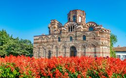 Church of Christ Pantocrator in Nessebar ancient city. Nesebar, Nesebr is a UNESCO World Heritage Site. An ancient Byzantine. Architecture church in Nessebar stock images
