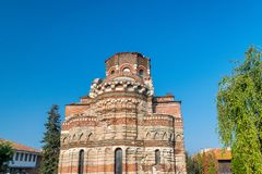 Church of Christ Pantocrator in Nessebar ancient city. Nesebar, Nesebr is a UNESCO World Heritage Site. An ancient Byzantine. Architecture church in Nessebar stock photo
