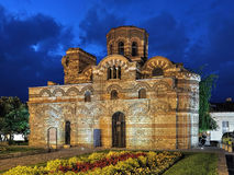 Church of Christ Pantocrator in Nessebar in night, Bulgaria Royalty Free Stock Photography