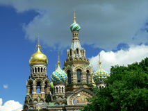 The Church of Christ's Resurrection. This marvelous Old Russian-style church (Usually called The Savior on Blood) was built on the spot where Emperor Alexander royalty free stock photography
