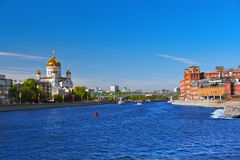 Church of Christ the Savior and Former factory building in Mosco Royalty Free Stock Image