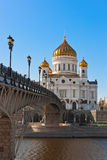 Church of Christ the Savior in Moscow Stock Images