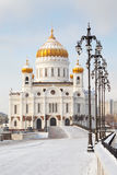 Church of Christ the Savior in Moscow at winter Stock Photos