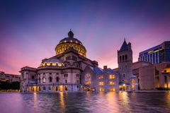 The Church of Christ, Scientist at sunset, at the Christian Scie Stock Image