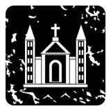 Church christian icon, grunge style Stock Image