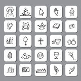 Church Christian icons set 1 Stock Images