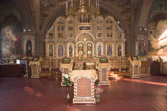 Church Christian. Internal interior Stock Image