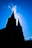 Church of Christianity. With sunset background Stock Photography