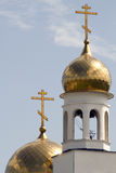 Church Christianity temple. Dome cross against the sky Stock Photo