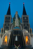 Church of Christianity in Thailand. Mary front of Church of Christianity in Thailand Stock Photography