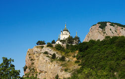 The Church of Christs Resurrection in Crimea. Located on cliff Stock Photos