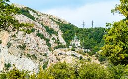 The Church of Resurrection in Foros, Crimea. The Church of Christs Resurrection in Foros, Crimea stock photography