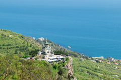 The Church of Christs Resurrection on rocks in Crimea Stock Photography