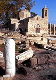 Church of Chrysopolitissa, Paphos. Royalty Free Stock Photos
