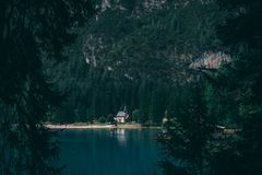 Church. In Braise Lake, Trentino, Italy Royalty Free Stock Photo