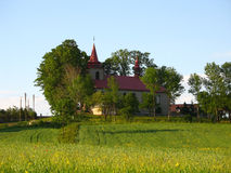 Church of Ciagowice, Poland. Royalty Free Stock Photos