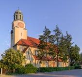Church in the city Dobzhen Wielki, Polska Stock Photography