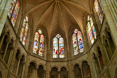 Church in the city of Les Andelys in normandie Royalty Free Stock Image