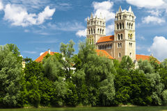 Church in city of Munich Stock Images
