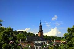 Saarbrücken in germany. Church in the city of saarbrücken in germany royalty free stock photography
