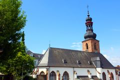 Saarbrücken in germany. Church in the city of saarbrücken in germany royalty free stock photos